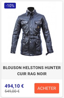 Veste Cuir Helstons Hunter